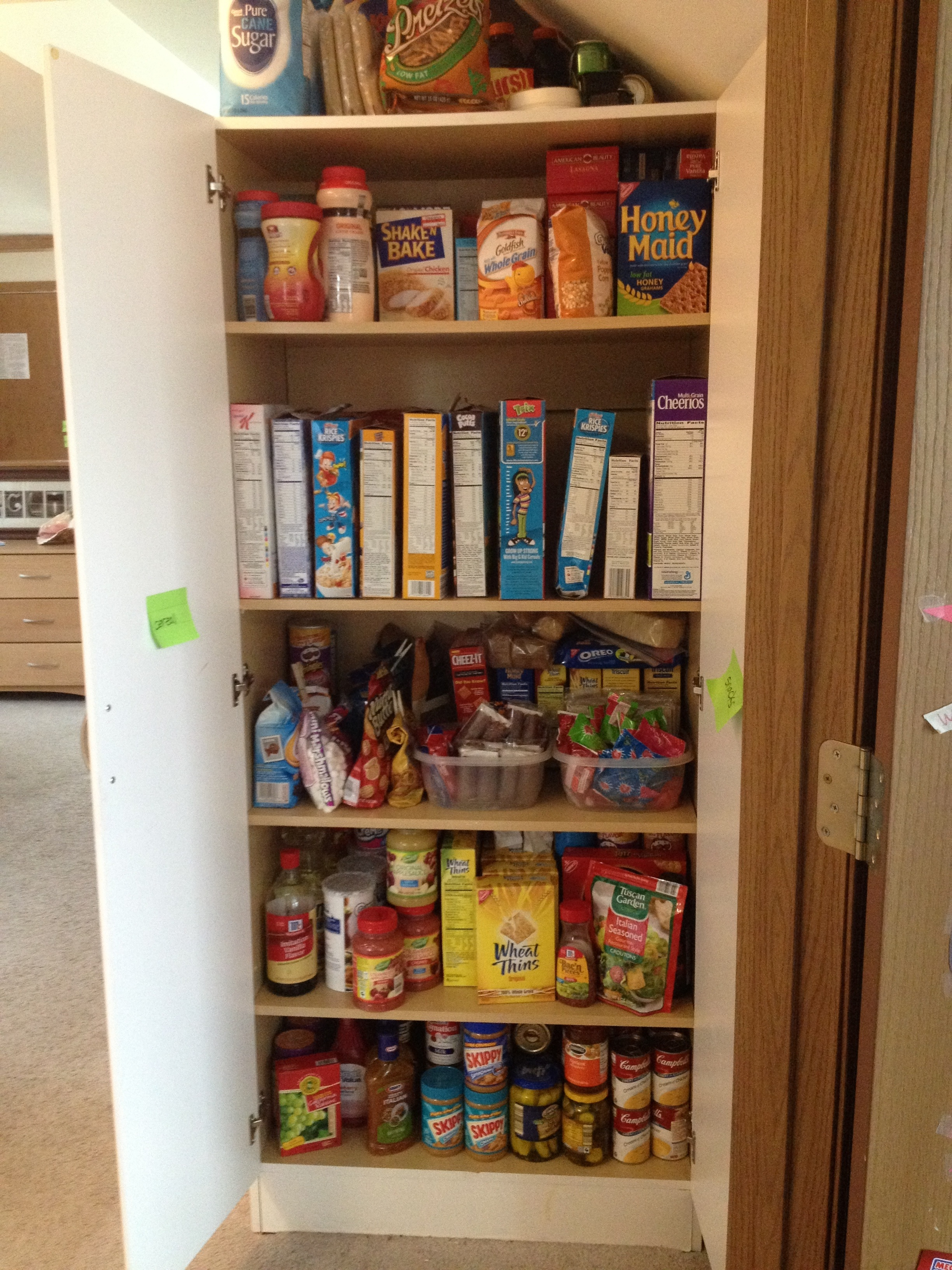 Organized home perfect pantry andreabcreative for Perfect kitchen organization