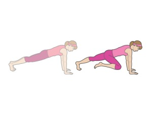 how to keep back straight during plank